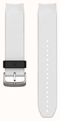 Garmin QuickFit 22 Watch Strap Only, White Silicone 010-12500-04