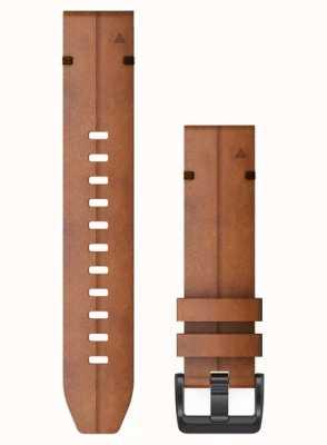 Garmin QuickFit 22 Watch Strap Only, Chestnut Leather 010-12863-05