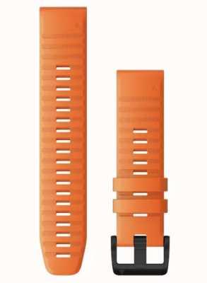 Garmin QuickFit 22 Watch Strap Only, Ember Orange Silicone 010-12863-01