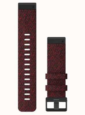 Garmin QuickFit 22 Watch Strap Only, Heathered Red Nylon 010-12863-06