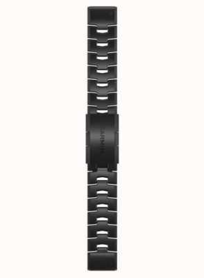 Garmin QuickFit 22 Watch Strap Only, Vented Titanium Bracelet With Carbon Grey DLC Coating 010-12863-09
