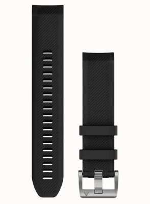 Garmin QuickFit 22 MARQ Watch Strap Only, Black Silicone (Silver) 010-12738-05