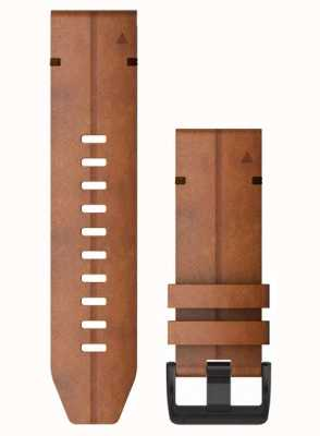 Garmin QuickFit 26 Watch Strap Only, Chestnut Leather 010-12864-05