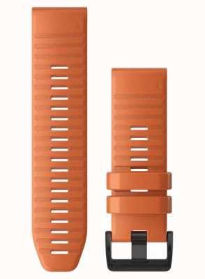 Garmin QuickFit 26 Watch Strap Only, Ember Orange Silicone 010-12864-01