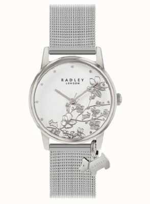Radley Botanical Floral | Silver Mesh Bracelet | White Floral Dial RY4401