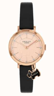 Radley Selby Street | Black Leather Strap | Rose Gold Dial | RY2928