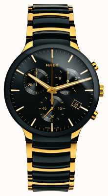 Rado Centrix Chronograph XL Gold Tone High-Tech Ceramic R30134162
