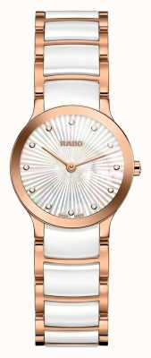 RADO Centrix Diamonds White Ceramic And Rose Gold R30186912