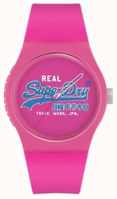 Superdry Urban Original | Pink Silicone Strap | Pink Print Dial | SYL280PU