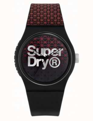 Superdry Urban Geo Sport | Black/Red Silicone Strap | Black/Red Dial SYG268R