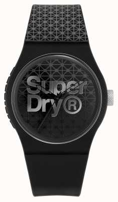 Superdry Urban Geo Sport | Black/Grey Silicone Strap |Black/Grey Dial SYG268B