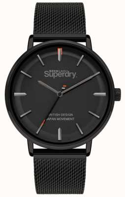 Superdry Ascot XL | Black Mesh Bracelet | Black Dial | SYG284BM