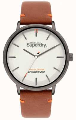 Superdry Ascot XL | Tan Leather Strap | Grey Dial | SYG283T