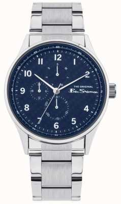Ben Sherman Men's Stainless Steel Bracelet | Blue Multi Dial | BS021USM