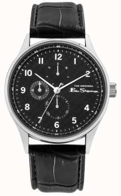 Ben Sherman Men's Black Leather Strap | Black Multi Dial | BS021B