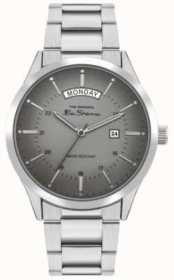 Ben Sherman Men's Stainless Steel Silver Bracelet | Grey Dial | BS022SM