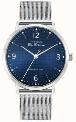 Ben Sherman Men's Stainless Steel Mesh Bracelet | Blue Dial | BS025USM