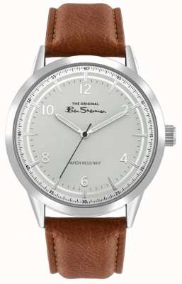 Ben Sherman Men's Brown Leather Strap | Silver Sunray Dial | BS023T
