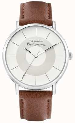 Ben Sherman Men's Brown Leather Strap | Silver/Grey Dial | BS026T