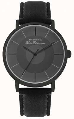 Ben Sherman Men's Black Leather Strap | Black Dial | BS026B