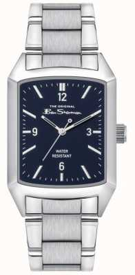 Ben Sherman Men's Stainless Steel Silver Bracelet | Blue Dial | BS013USM