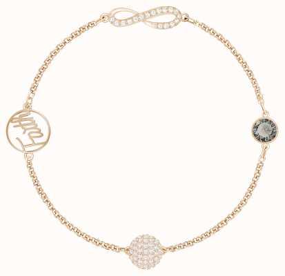 Swarovski Remix  Rose-Gold Plated   Infinity Strand   Black   Bracelet 5365734