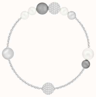 Swarovski Remix   Rhoduim Plated   Grey   Prearl Strands   Bracelet 5365739