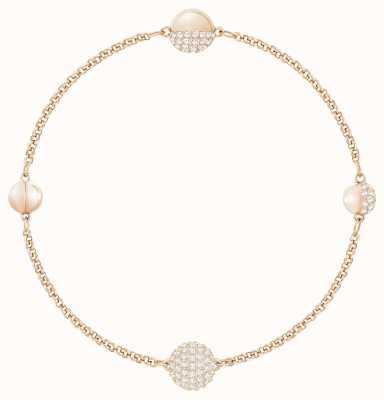 Swarovski Remix   Rose-Gold Strand   White   Round strand  L  Bracelet 5421445