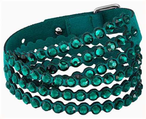 Swarovski Power | Green | Double Wrap Fabric Bracelet | 5511700