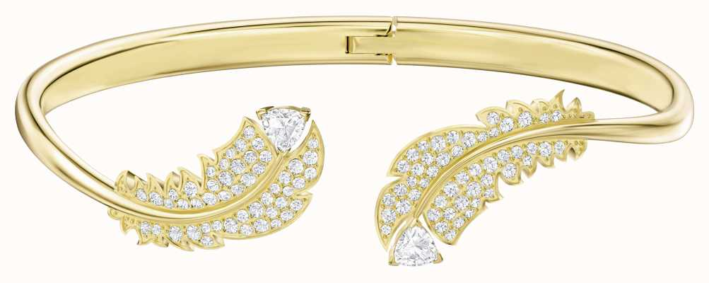 Swarovski Nice |Gold-Tone plated |White | Feather |Bangle 5505622