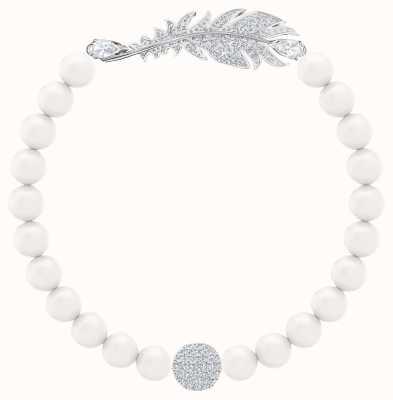 Swarovski Nice | Rhodium plated | Pearl |Feather |Bracelet 5509723