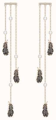 Swarovski Naughty | Rose-Gold plated |Black |Chandelier | Earrings 5497873