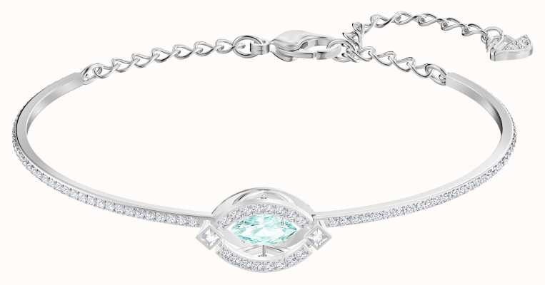 Swarovski Sparkling | Dance Bangle | Rhodium Plated | Green | 5485722