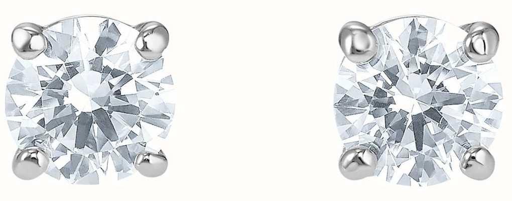 Swarovski Attract | Stud Pierced Earrings | Rhodium Plated | White 5509937