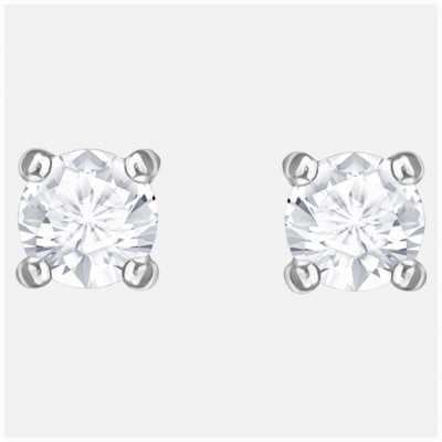 Swarovski Attract | Rhodium plated | White | Round | Stud Earings 5408436