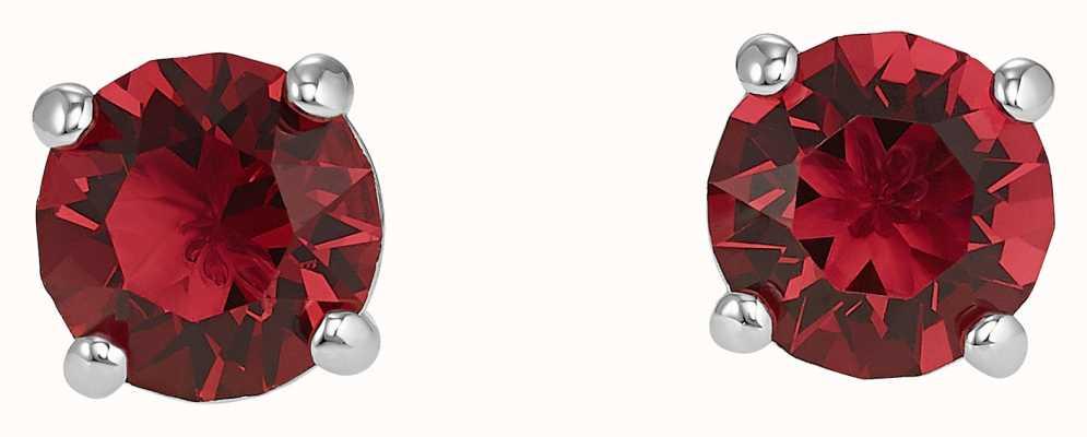 Swarovski Attract | Stud Pierced Earrings | Rhodium Plated | Red 5493979
