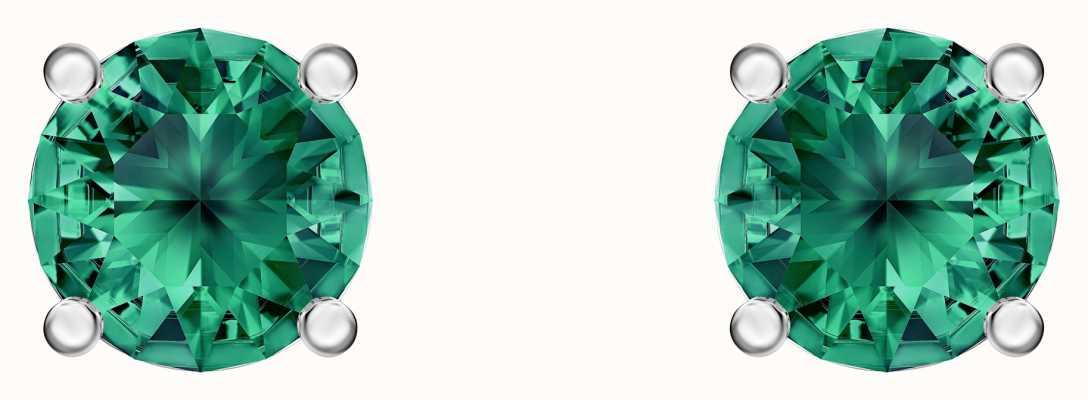 Swarovski Attract | Rhodium Plated | Green | Stud Earrings 5512384