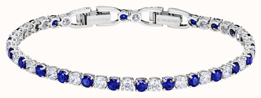 Swarovski Tennis | Rhodium plated |Blue | Deluxe |Bracelet 5506253