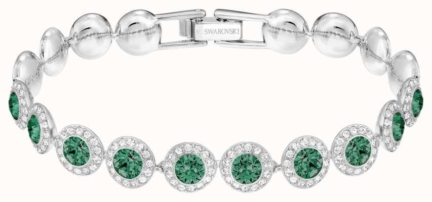Swarovski   Angelic   Rhodium Plated   Green Jewels   Bracelet 5237769