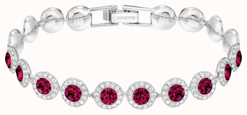 Swarovski Angelic| Rhoduim Plated |Red |Circle |Bracelet 5446006