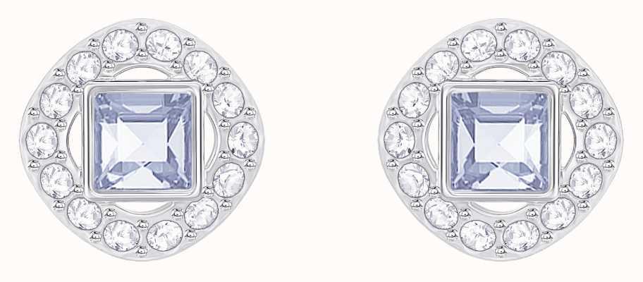 Swarovski Angelic | Rhodium Plated | Blue | Square | Earrings 5352048