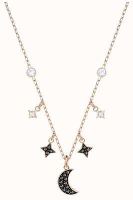 Swarovski Symbolic | Rose-Gold Plated | Black | Moon | Necklace 5429737