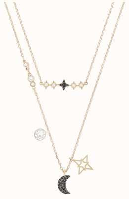 Swarovski Symbolic | Star/Moon Necklace Set | Rose Gold |MultiColoured 5273290