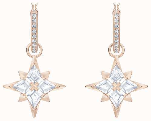 Swarovski Symbolic | Rose-Gold Plated |White | Star |Hooped Earrings 5494337