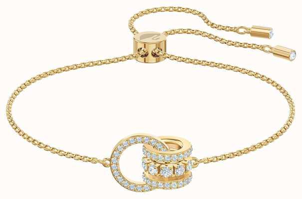Swarovski Further   Gold Tone Plated Bracelet   White 5499000