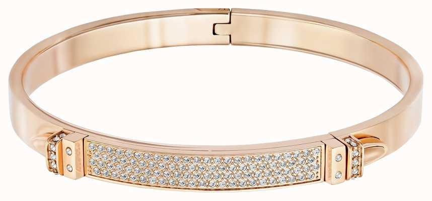 Swarovski Distinct | Rose Gold Plated Bangle | White Stones | Medium 5152481