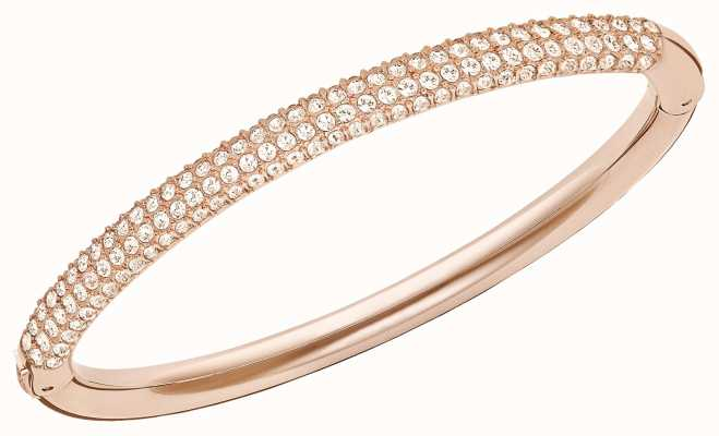 Swarovski Stone | Rose Gold Tone Bangle | White Stones | Medium 5032850
