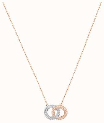 Swarovski Stone | Rose Gold Plated Necklace | Silver/Rose |White Stone 5414999