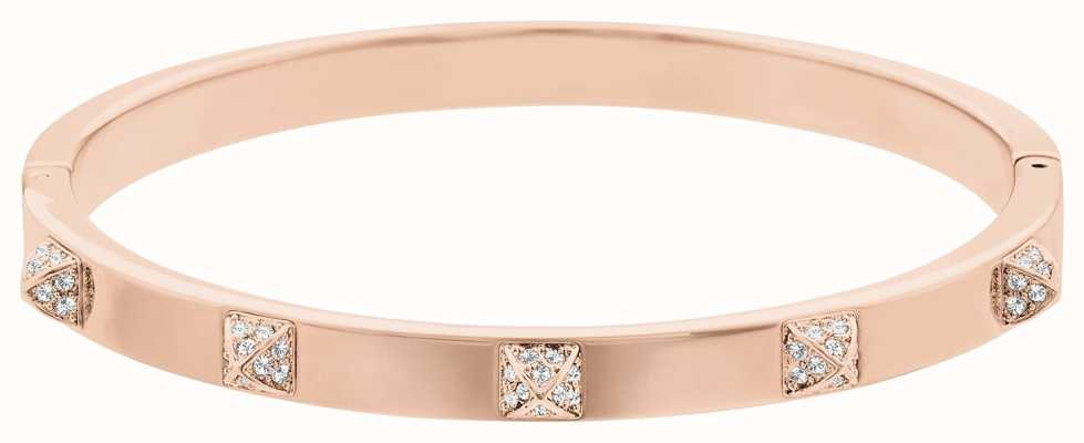 Swarovski Tactic | Rose Gold Plated Bangle | White Stones | Medium 5098368