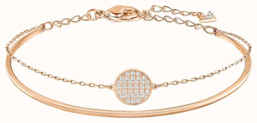 Swarovski Ginger | Rose Gold Plated Bangle | White Stones | Medium 5274892